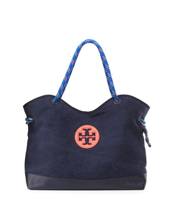Kellyn Canvas Tote Bag, Tory Navy