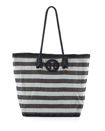 Oversized Stripe Canvas Tote Bag