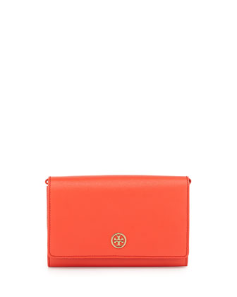 Robinson Chain-Strap Wallet Bag, Poppy Coral