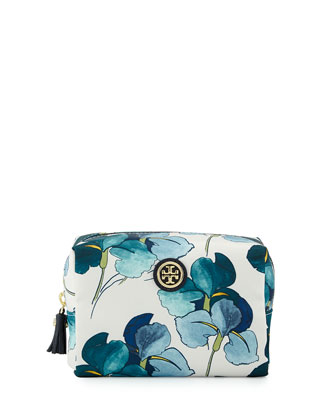 Brigitte Floral-Print Cosmetic Case