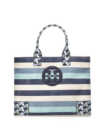 Ella Canvas Tote Bag, Harbor Stripe