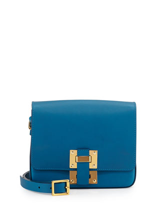 Box Flap Bag, Teal Blue