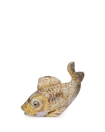 Koi Fish Crystal Minaudiere, Champagne