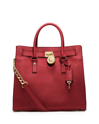 Hamilton Large Saffiano Tote Bag, Red