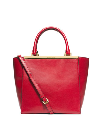 Lana Medium Tote Bag, Dark Red