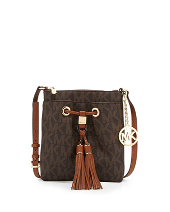 Camden Logo Crossbody Bag, Brown