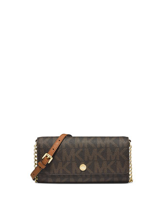 Jet Set MK Travel Wallet-on-Chain, Brown
