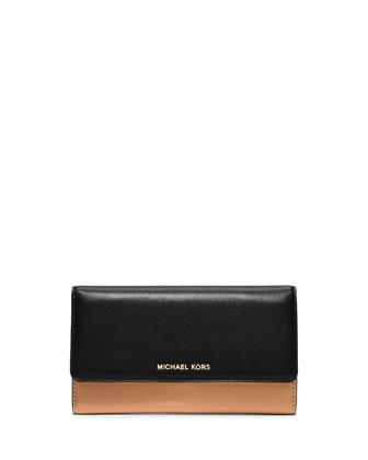 Colby Carryall Clutch Bag, Suntan/Black