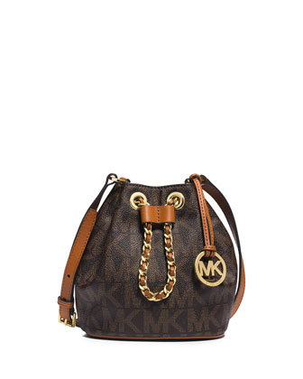 Frankie Drawstring Crossbody Bag, Brown