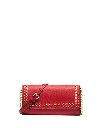 Hippie Grommet Jet Set Travel Wallet on Strap, Red