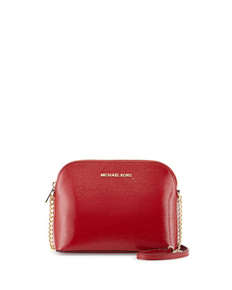 Jet Set Small Travel Dome Crossbody, Dark Red
