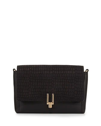 Inez Convertible Clutch Bag, Black