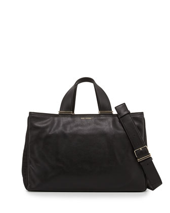 Inez Leather Carryall Tote Bag, Black