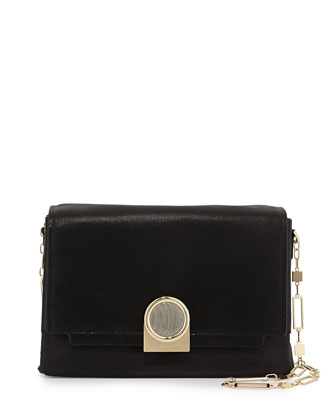Bijou Chain Shoulder Bag, Black