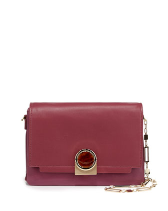 Bijou Chain Shoulder Bag, Raspberry