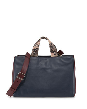 Inez Colorblock Carryall Tote Bag, Deep Navy