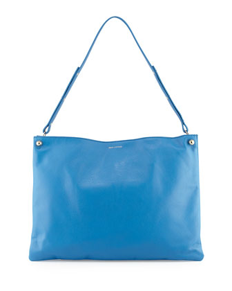Bijou Leather Shoulder Bag, Royal