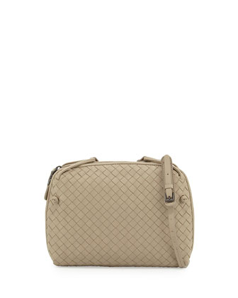 Veneta Small Crossbody Bag, Beige