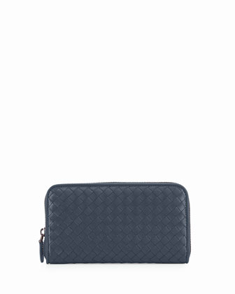 Continental Zip-Around Wallet, Navy