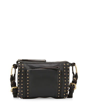 Pamela Studded Crossbody Bag, Forest