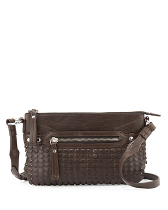 Molly Laser-Cut Crossbody Bag, Brown