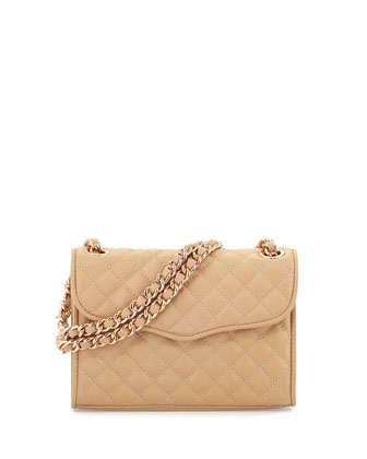 Quilted Affair Mini Shoulder Bag, Biscuit