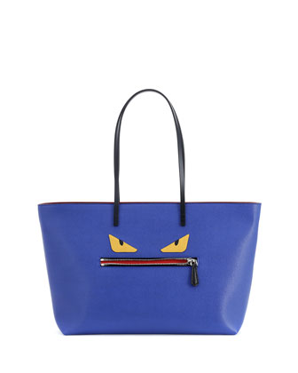 Monster Tote Bag, Blue
