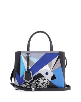 2Jours Petite Marquery Geometric Tote Bag, Blue/Multicolor