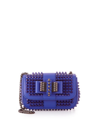 Sweet Charity Small Spiked Crossbody Bag, Periwinkle Blue