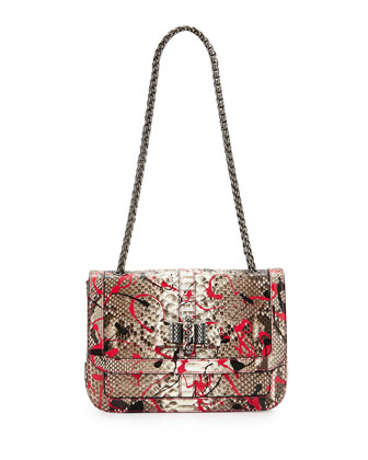 Sweet Charity Python Crossbody Bag, Pink