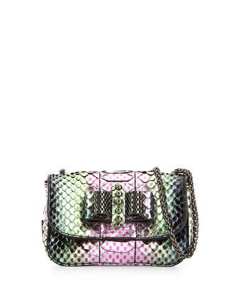 Sweet Charity Python Mini-Crossbody Bag, Pink