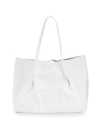 New Ondine Leather Tote Bag, Off White