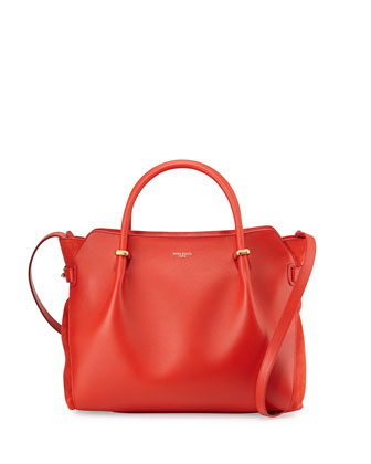 Marche Medium Leather Satchel Bag, Red