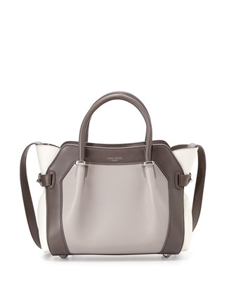 Marche Extra-Small Leather Satchel Bag, Dark Gray