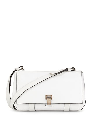 PS Courier Shoulder Bag, White