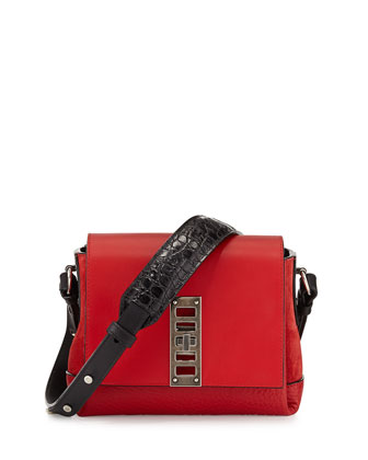 Elliot Mini Shoulder Bag, Red/Black