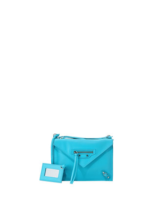 Papier Envelope Crossbody Bag, Blue