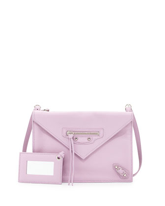 Paper Envelope Crossbody Bag, Lavender Pink