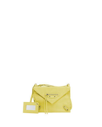 Paper Envelope Crossbody Bag, Yellow