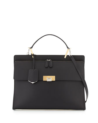 Le Dix Zip Cartable Satchel Bag, Black