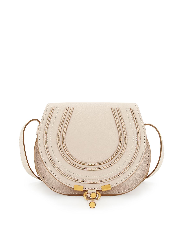 Marcie Small Crossbody Bag, White - Chloe