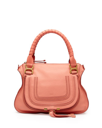 Marcie Medium Shoulder Bag, Coral