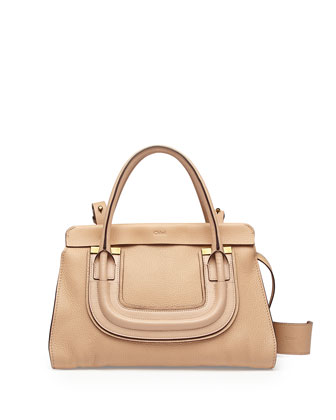 Everston Medium Double Satchel Bag, Blush Nude