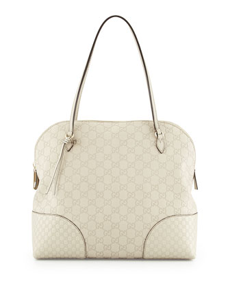 Bree Guccissima Leather Shoulder Bag, White