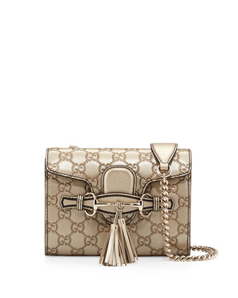 Emily Guccissima Mini Crossbody, Gold