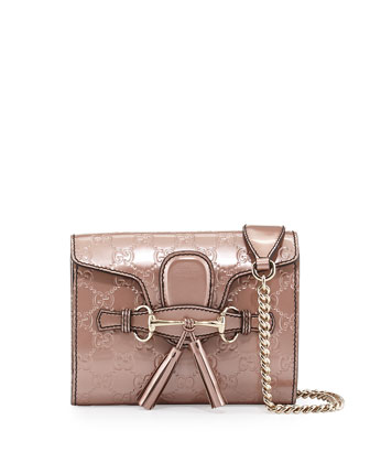 Emily Guccissima Mini Crossbody, Nude