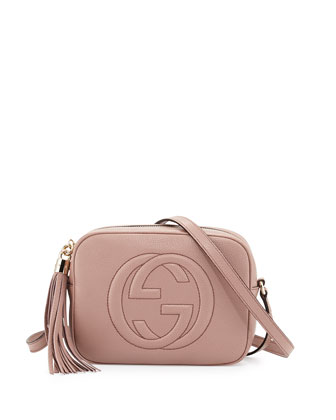 Soho Small Shoulder Bag, Nude