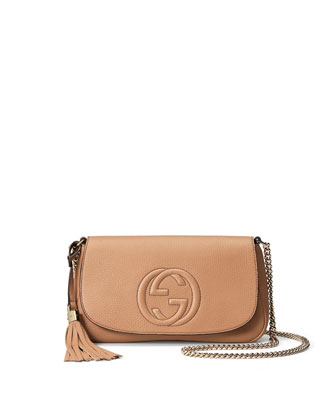 Soho Medium Crossbody Bag, Beige