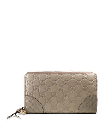 Bree Guccissima Leather Zip Around Wallet