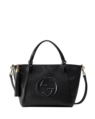 Soho Small Crossbody Tote Bag, Black